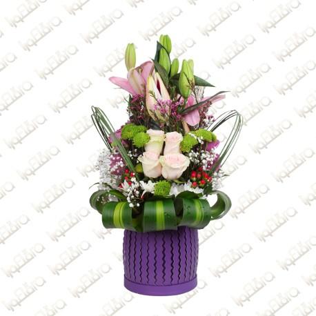 Flowery Box Arrangement