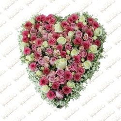 Blooming heart flower arrangement