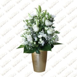 Purity flower arrangement