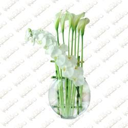Infinity flower arrangement