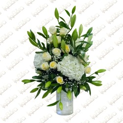 Touch of lily flower arrangement