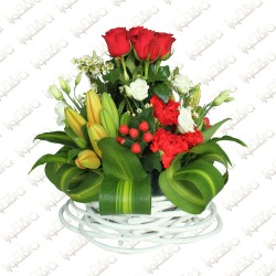 Tender smile basket arrangement