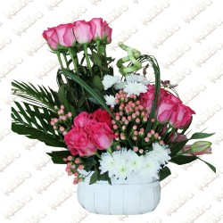 Lavish love basket arrangement