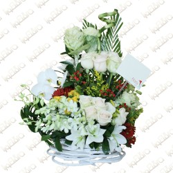 twin love basket arrangement