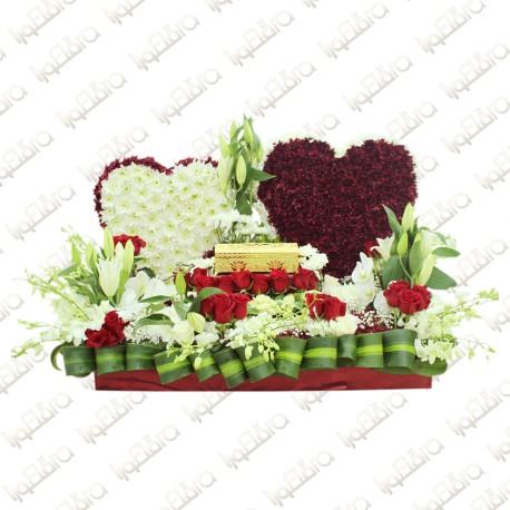 Two hearts Flower Arrangement