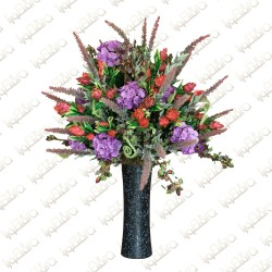 Dazzling Black Artificial Flower Arrangement