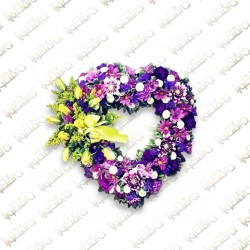 Purple Heart Flower arrangement