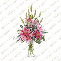 Pinky lily Flower Arrangement