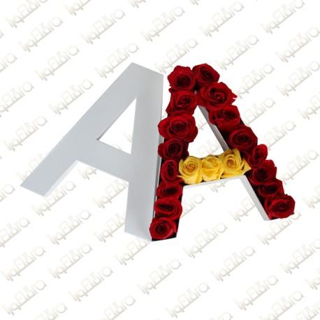 Letter A Flower Arrangement