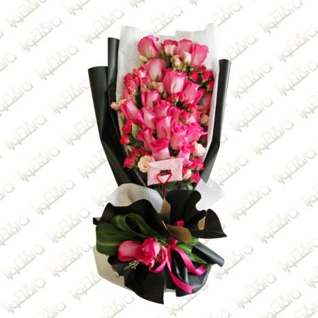 Fuschia Bouquet Arrangement