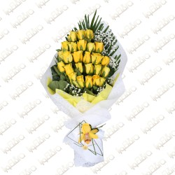 Yellow Heart Arrangement