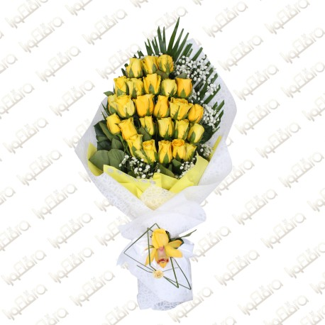 Yellow Heart Arrangement