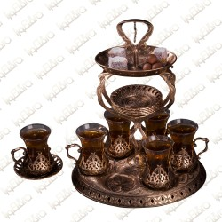 Rustic Golden tray with cups