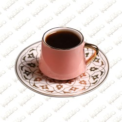 Pattern Pink Cups and Saucer