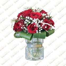Clear Rosas Arrangement