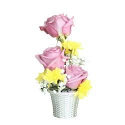 3 Purple rose Arrangement