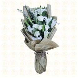 Rustic White Bouquet
