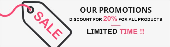 our promotions 20% discount